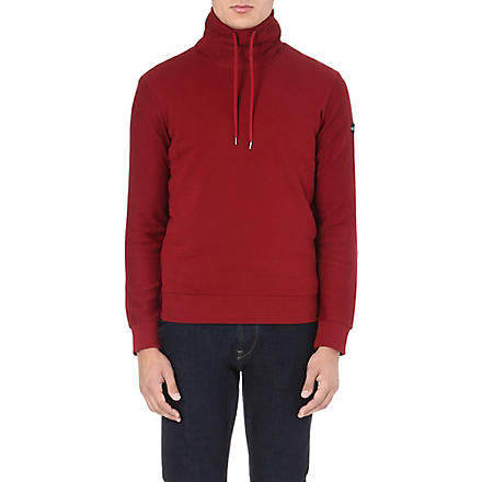 ARMANI JEANS Drawstring roll-neck sweatshirt (Red