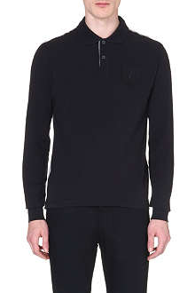 ARMANI JEANS Crest-detailed polo shirt