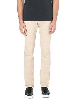 ARMANI JEANS Slim-fit tapered chino trousers