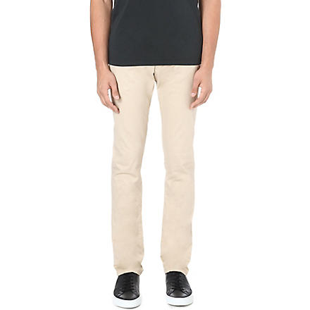 ARMANI JEANS Slim-fit tapered chino trousers (Beige