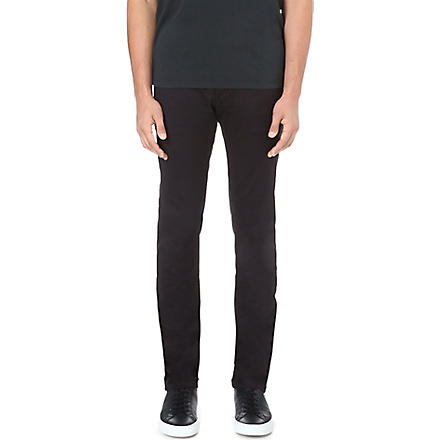 ARMANI JEANS Slim-fit tapered chino trousers (Navy