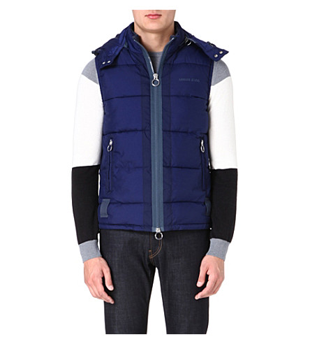 ARMANI JEANS Quilted gilet (Blue