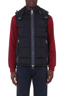 ARMANI JEANS Hooded quilted gilet