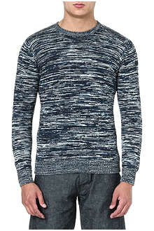 ARMANI JEANS Multicoloured knitted jumper