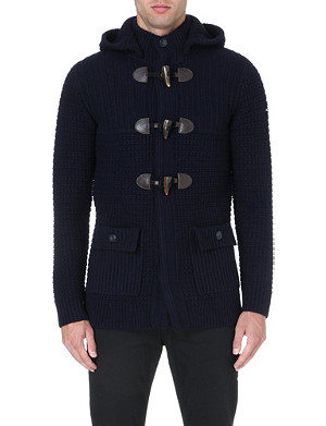 ARMANI JEANS Toggle-detail wool-blend cardigan