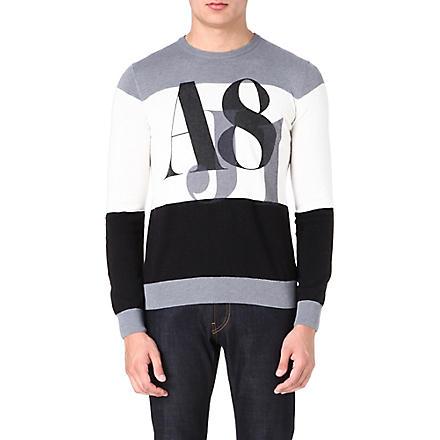 ARMANI JEANS AJ81 knitted jumper (Black