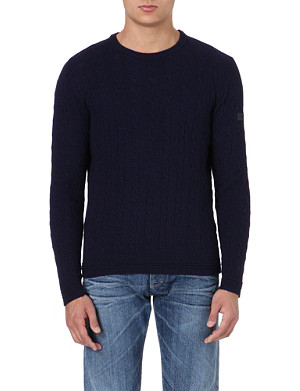 ARMANI JEANS Cable-knit jumper