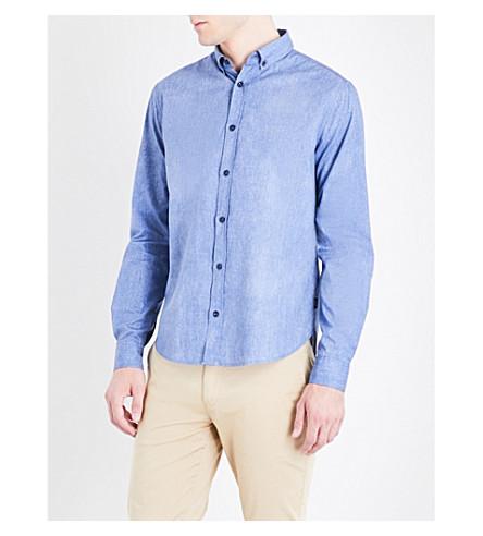 ARMANI JEANS Regular-fit cotton shirt (Fantasia+blue