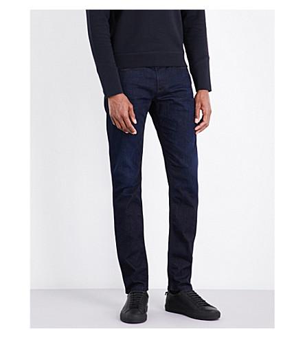 ARMANI JEANS J06 slim-fit tapered jeans (Dark+blue