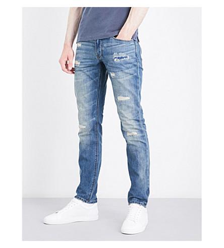 ARMANI JEANS J06 slim-fit tapered jeans (Blue