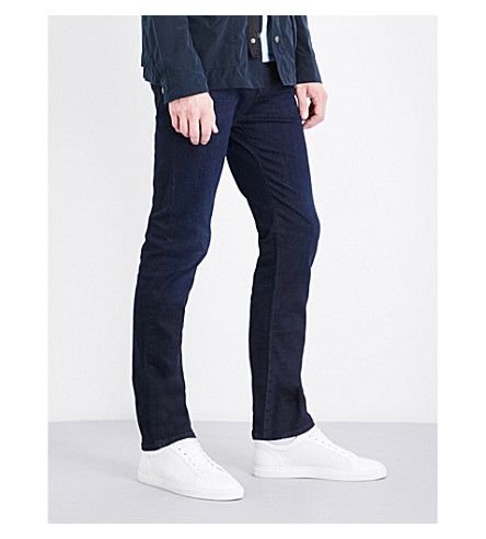 ARMANI JEANS J45 slim-fit straight jeans (Dark+blue
