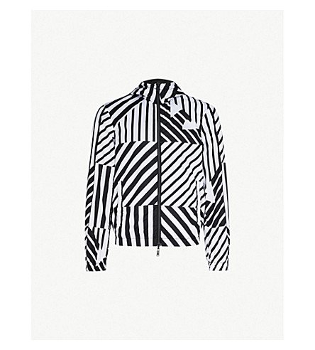 EMPORIO ARMANI Reversible shell jacket (Black/wht
