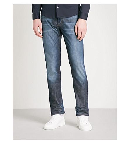 EMPORIO ARMANI J06 slim-fit skinny jeans (Dark+blue