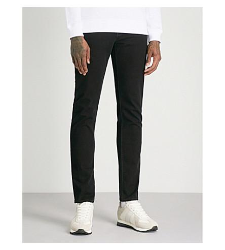 EMPORIO ARMANI J06 slim-fit tapered jeans (Black