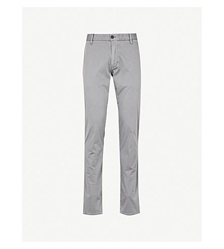 EMPORIO ARMANI Slim-fit cotton-blend chinos (Grey