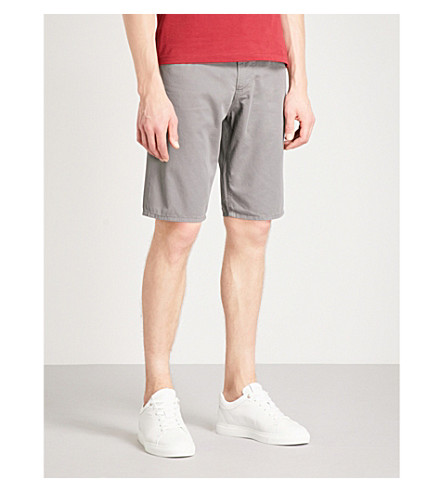 EMPORIO ARMANI Regular-fit cotton shorts (Grey
