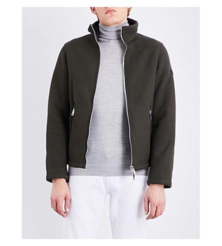 ARMANI JEANS Zip-up twill Harrington jacket (Khaki