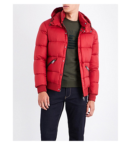 ARMANI JEANS Quilted shell jacket (Red