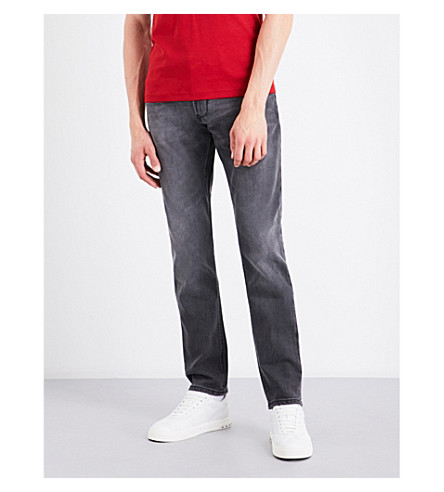 ARMANI JEANS J06 slim-fit tapered jeans (Grey