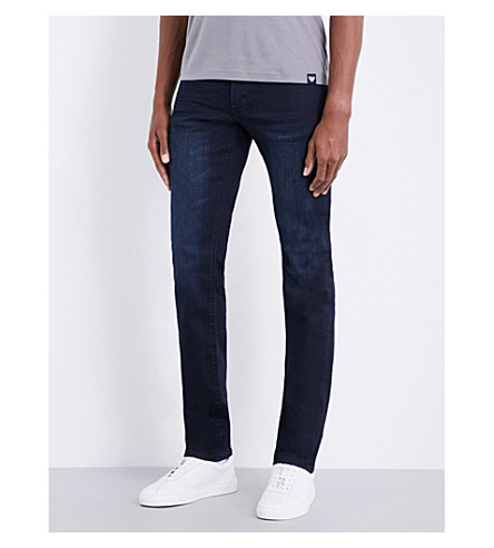 ARMANI JEANS J06 slim-fit tapered jeans (Dark+wash