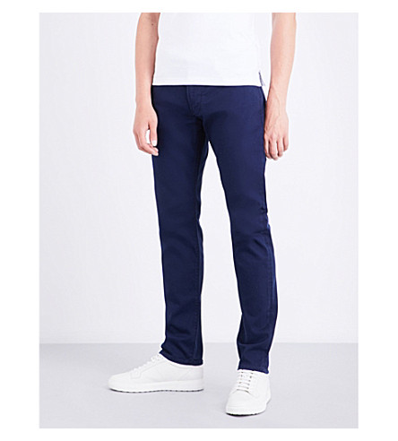 ARMANI JEANS J06 slim-fit straight-leg jeans (Blue
