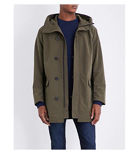 ARMANI JEANS Lightweight shell parka coat (Khaki