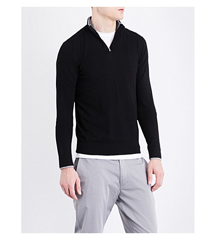 ARMANI JEANS Branded knitted jumper (Black