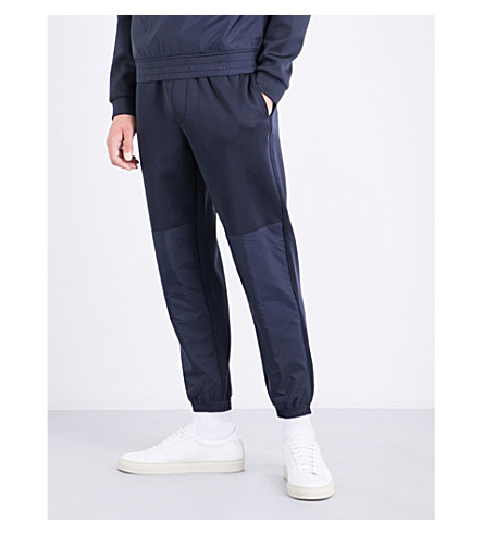ARMANI JEANS Neoprene panelled jogging bottoms (Navy