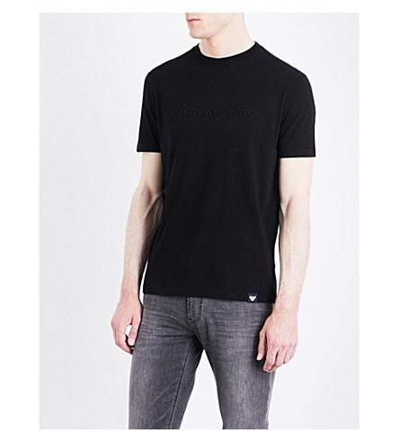 ARMANI JEANS Script cotton T-shirt (Black