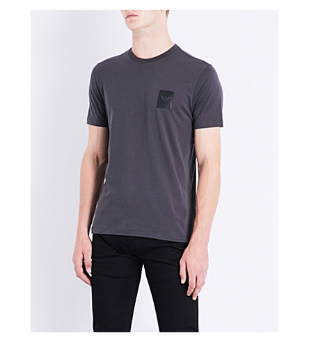 ARMANI JEANS Logo-print cotton T-shirt (Grey