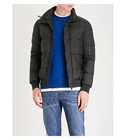 ARMANI jacket down EMPORIO Hodded EMPORIO ARMANI shell Black padded wnfE4Wzq