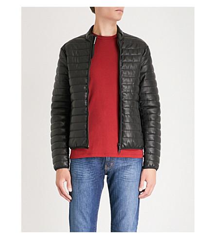 ARMANI concha acolchada de EMPORIO chaqueta negro dpn4xqCnUw