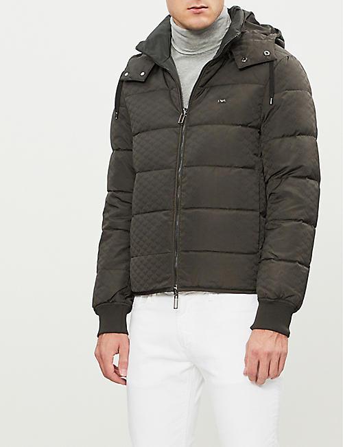 EMPORIO ARMANI Eagle logo-print padded down-blend jacket