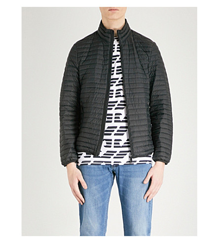 EMPORIO ARMANI Quilted shell-down jacket (Black
