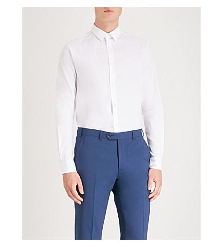 de EMPORIO ARMANI mezcla slim Blanco algodón fit Camisa en xwaYSrwfq