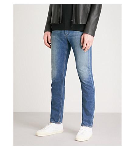 EMPORIO ARMANI J06 slim-fit straight jeans (Denim+blu