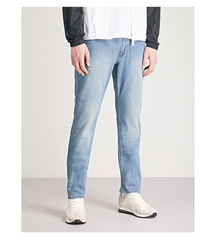 EMPORIO ARMANI J06 slim-fit straight jeans (Denim+blu