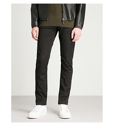 EMPORIO ARMANI J06 slim-fit straight jeans (Black