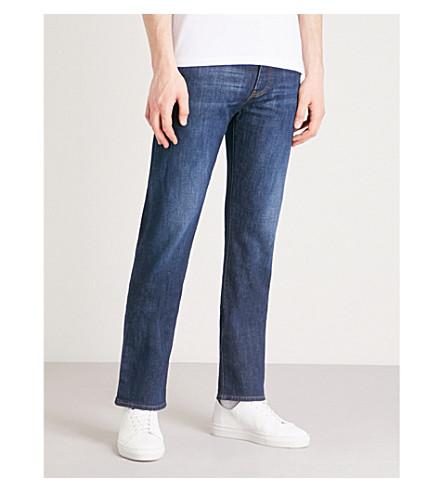 EMPORIO ARMANI J21 slim-fit straight jeans (Denim+blu