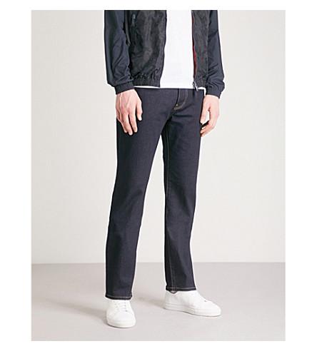 EMPORIO ARMANI J21 Comfort regular-fit straight jeans (Denim+blu