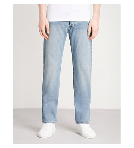 EMPORIO ARMANI J21 regular-fit straight jeans (Denim+blu