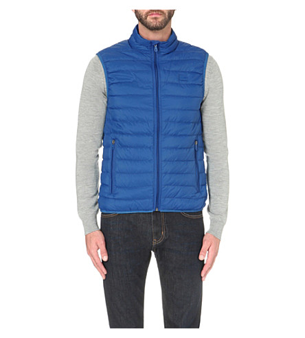 ARMANI JEANS Quilted shell gilet (Azzurro+blue