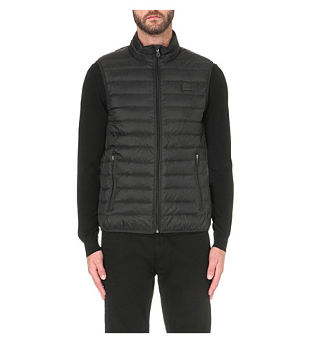 ARMANI JEANS Quilted shell gilet (Black
