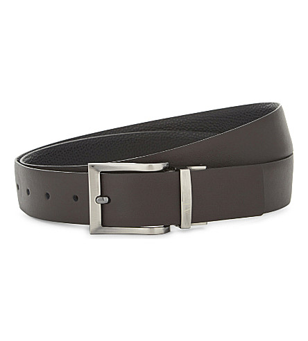 ARMANI JEANS Reversible leather belt (Brown