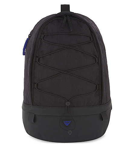 ARMANI JEANS Lace-up backpack (Black