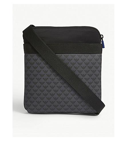 7330e200d5cd ... EMPORIO ARMANI Brand logo print messenger bag (Black. PreviousNext