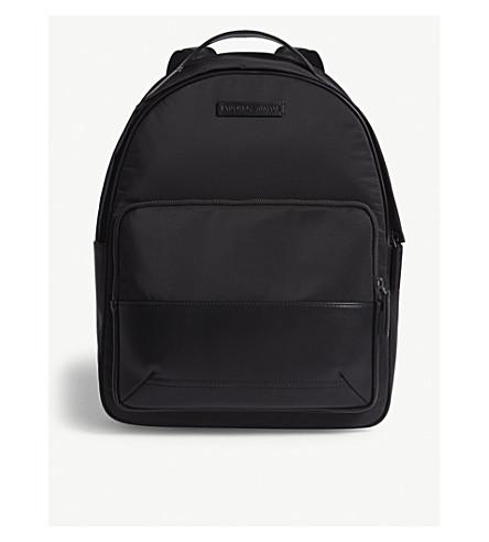 EMPORIO ARMANI Nylon backpack (Black
