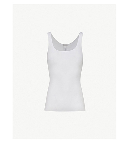 HANRO Seamless cotton vest top (White