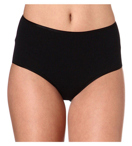 HANRO Seamless maxi briefs (Black