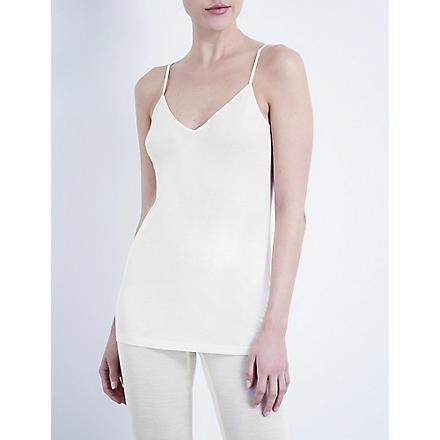 HANRO Pure silk vest top (Cream
